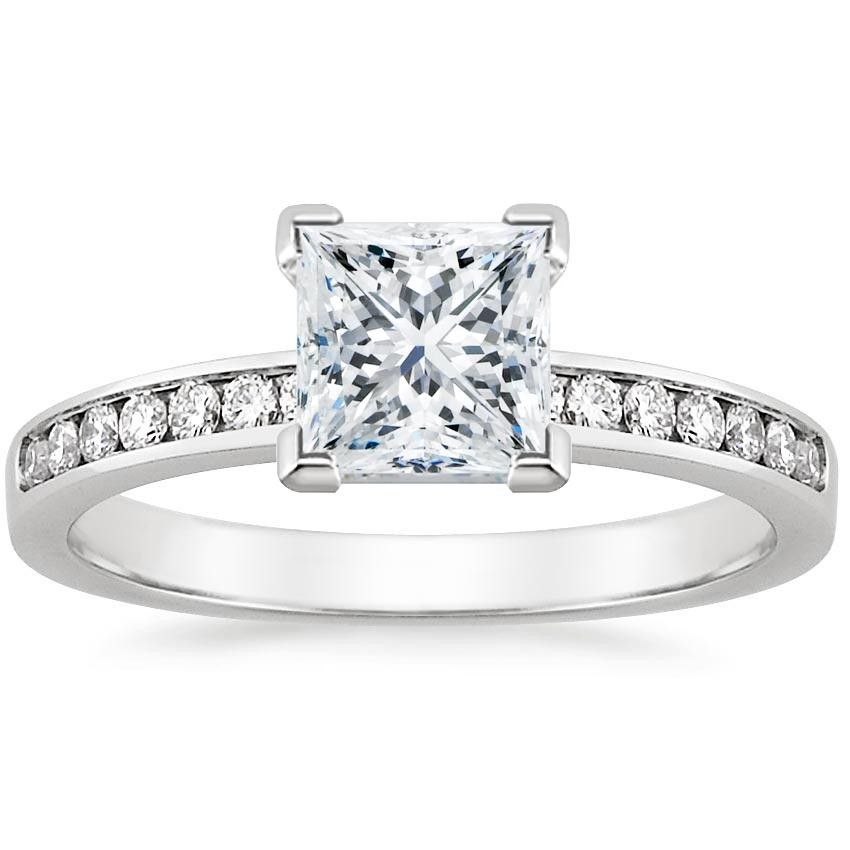 Channel setting engagement ring