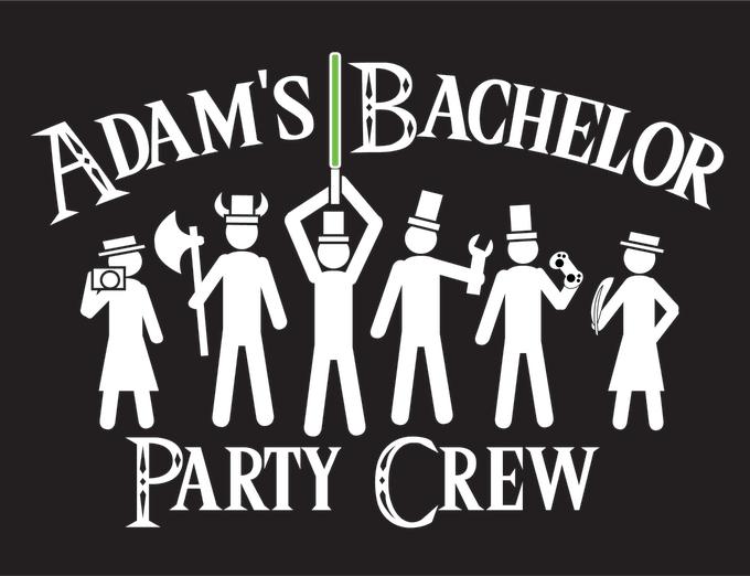Example of a men's bachelor party shirt idea
